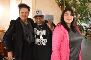 L-R Lorena Camona Charles Reed and Nanci Hinojosa