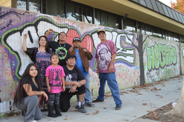Native Artist in Action crew with Franklin and Sara B