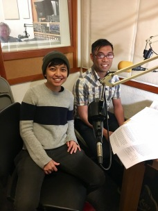 Nadi and Rick on the mike at KPFA