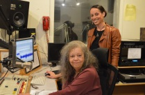 Sharon at the control with Kendall Tech assisant