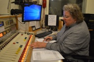 Darlene at the controls