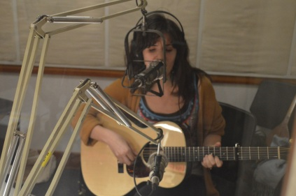 Adrienne in the studio