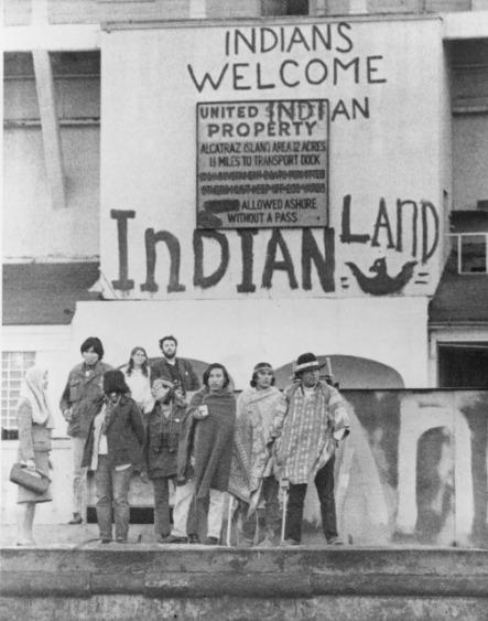 Alcatraz Inidans land 1969