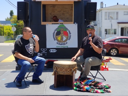 (L-R) Mike Bellanger and Manny Lieras of All Nations Singers