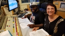 Radio Shaq on the controls and Chana Wilson Tech assistant