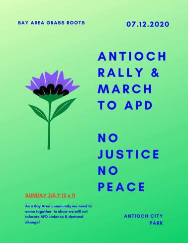 FLYER OF ACTION COMIN UP IN ANTIOCH JULY 12TH 11AM