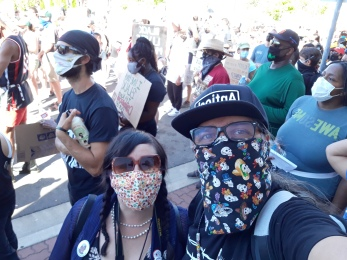 Franklin and Sara Blanco at BLM rally in Martinez