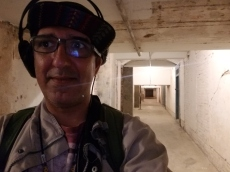 Franklin in the bowels of Alcatraz