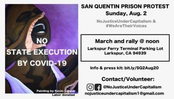 San Quinten protest flyer